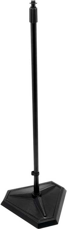 """33""""-61"""" H Adjustable Microphone Stand with 1/4-Turn Threadless Hex-Base in Chrome"""