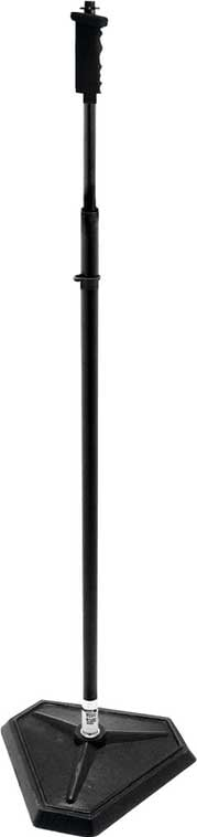 "33""-61"" H Adjustable Microphone Stand with 1/4-Turn Threadless Hex-Base, Pistol Grip Clutch (Black)"