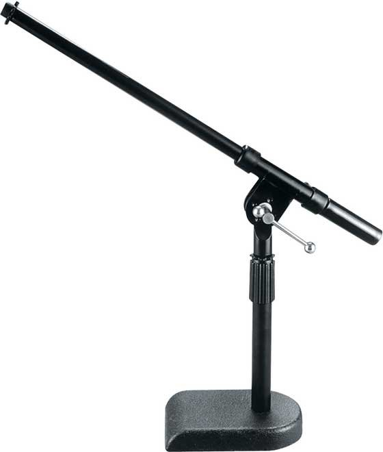 "8""-14"" Adjustable Bass Drum/Amplifier Microphone Stand with 16"" Boom and Heavy-Casted ""U"" Base"