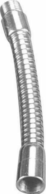 """6"""" Chrome Gooseneck (Steel, Male & Female Ends)"""