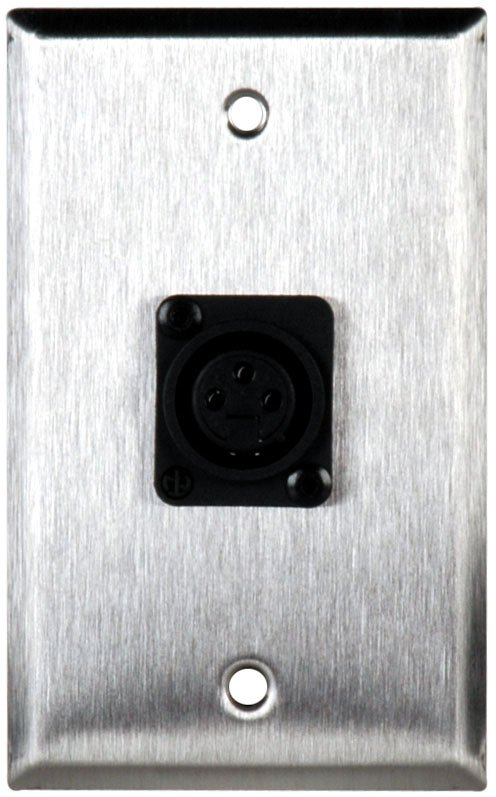 Single Gang Wall Plate With 1 NC3FPP Connector