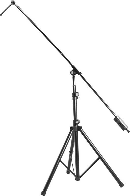 "44""-80"" Studio Microphone Stand with Tripod and 82"" Boom"