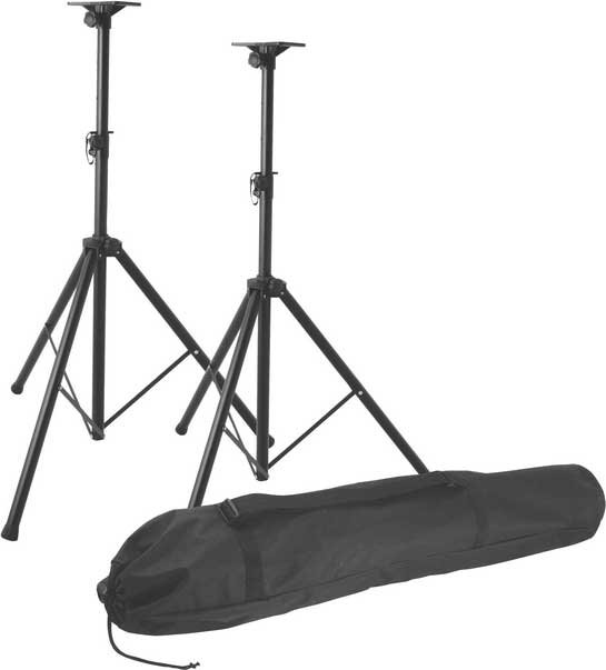 Professional Speaker Stand Pack with (2) Stands and Carry Bag