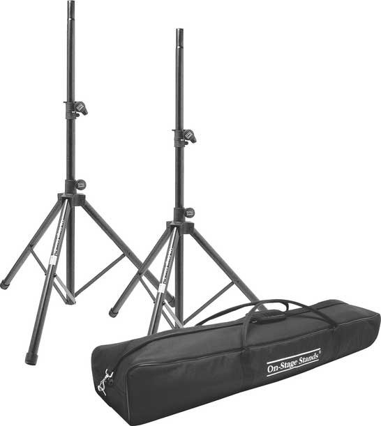 All-Aluminum Speaker Stand Pack (2 Stands with Bag)