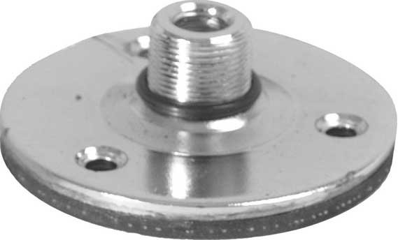 "Chrome 5/8"" Flange Mount (with Shock Pad)"