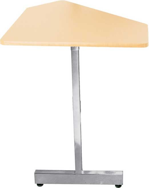 45 Degree Angled Corner Desk Extension (Maple Wood & Gray Steel Finishes, for use with WS7500MG)