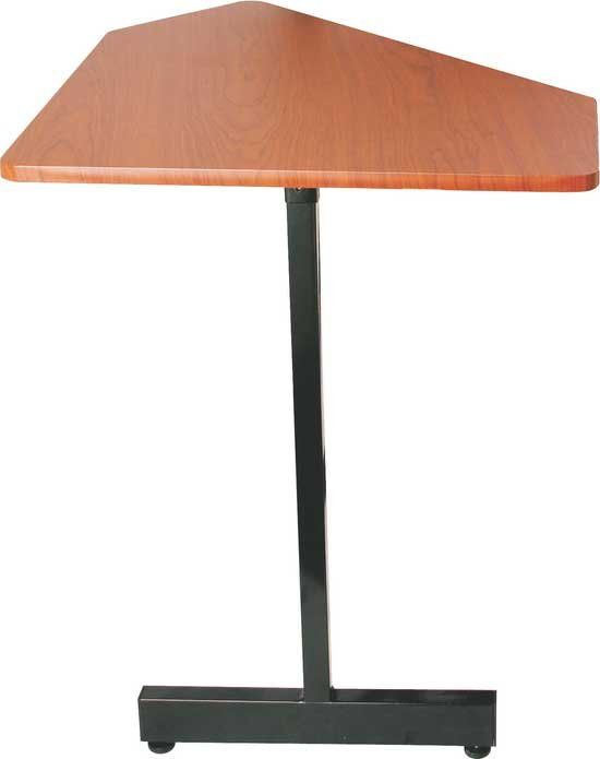 45 Degree Angled Corner Desk Extension (Rosewood & Black Steel Finishes, for use with WS7500RB)