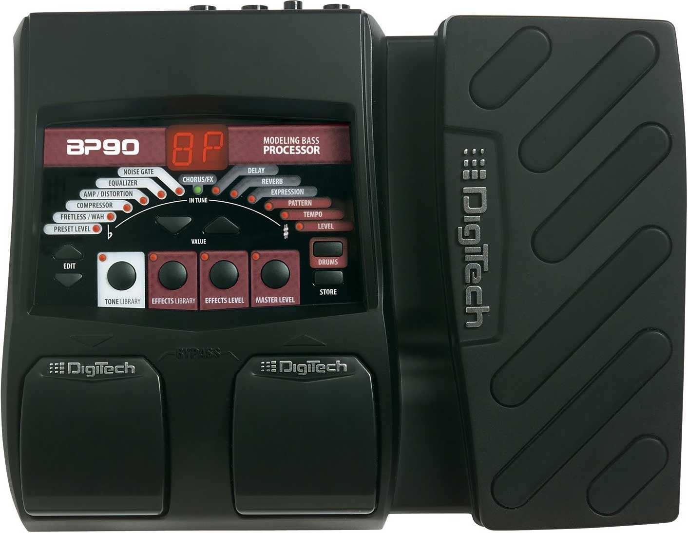 Bass Modeling/Multi-Effects Processor with Expression Pedal