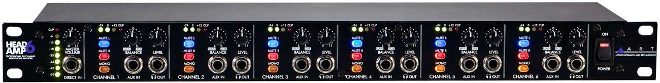 art headamp6 6 channel headphone amp full compass systems. Black Bedroom Furniture Sets. Home Design Ideas