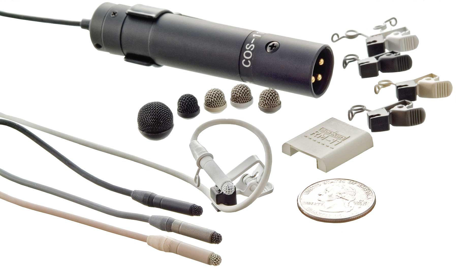 Lavalier Microphone with Reduced Sensitivity at -9dB and with Pigtails