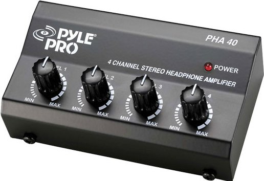 Pyle Pro PHA40 4-Channel Stereo Headphone Amplifier PHA40