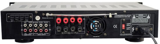 3000W Hybrid Preamplifier with AM/FM Tuner, Dual VHF High-Band Wireless Mic, USB