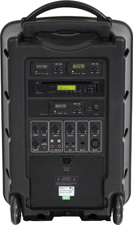 Any Spot Traveler 10 Portable PA System, w/ 2 mic & 2 mic rec