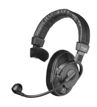 Headset, Single Ear w/Mic, No Cable, 80 Ohms