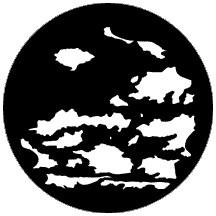 """""""Cloud 6"""" Patterned Steel Gobo"""
