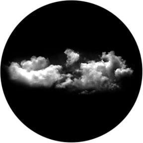 """Wide Cloud"" Glass Gobo"