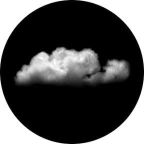 """""""Full Cloud"""" Glass Gobo"""