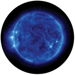 "Colored ""Blue Corona"" Glass Gobo"