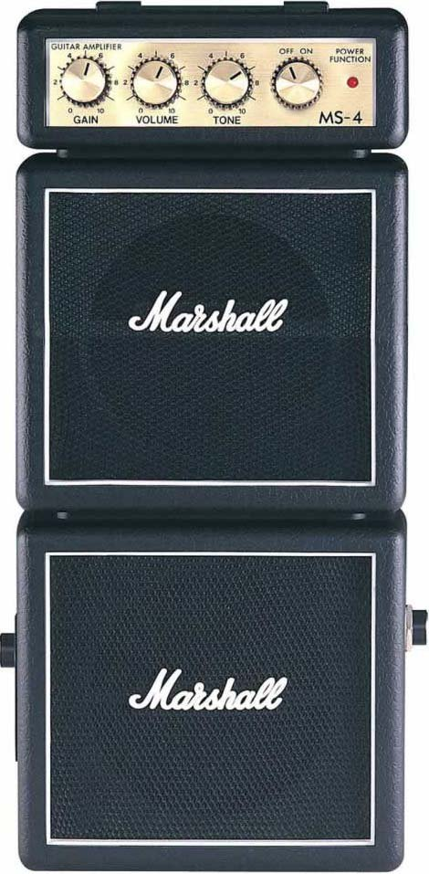 Marshall Amplification MS4-MARSHALL Battery-Powered Micro Guitar Amplifier MS4-MARSHALL