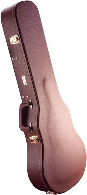 Gator Cases GW-LP-BROWN Deluxe Hardshell Wooden Vintage-Style Electric Guitar Case for Single-Cutaway Guitars GW-LP-BROWN