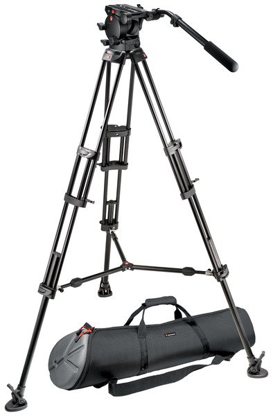 526 Pro Fluid Video Head with 545BK Tripod with Mid-Level Spreader and MBAG100P Bag