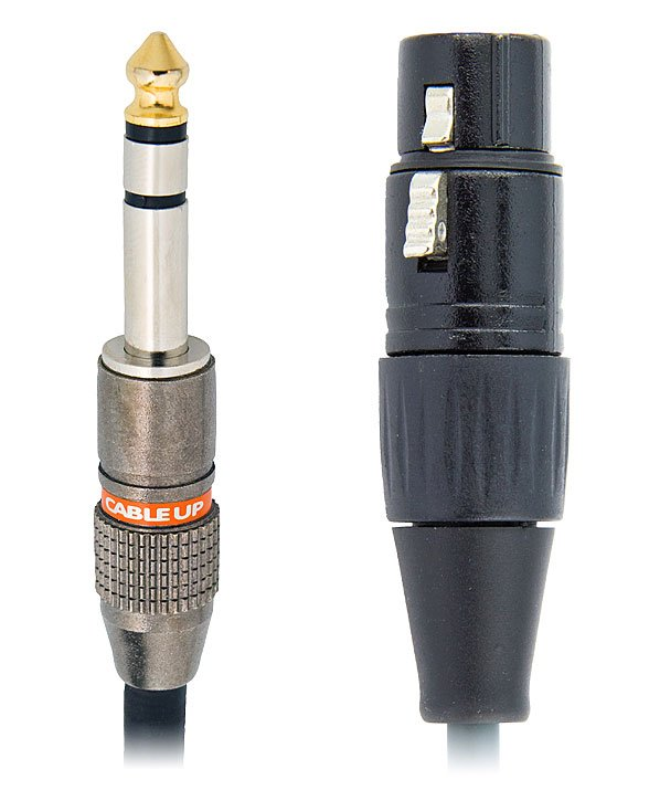 """50 ft 1/4"""" TRS Male to XLR Female Balanced Cable"""