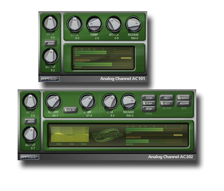 McDSP Analog Channel Native AC101 & AC102 Tape Emulation Plug-ins ANALOG-CHANNEL-NAT