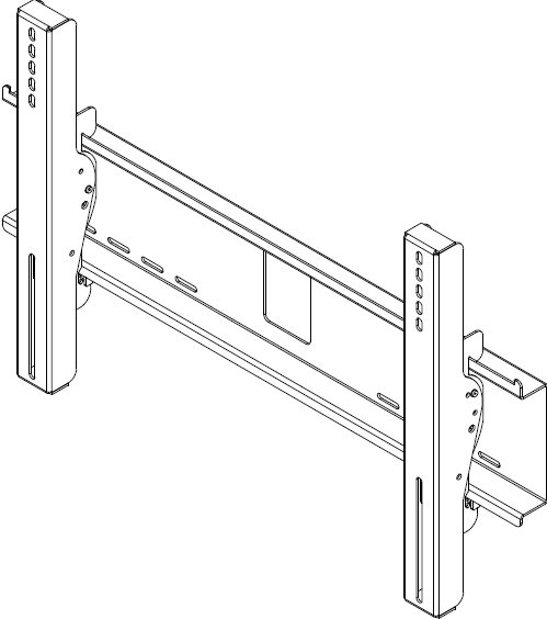 "Peerless EWMU-S  Environmental Tilt Wall Mount for 32""-60"" Flat Panel Screens with Security Hardware EWMU-S"