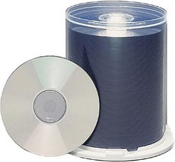 100-Pack of Silver Surfaced Blank 80 Min./700 MB CD-Rs (Maxell Part #: 648740)