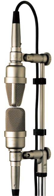 Stereo Mic Package with XY Stand Adaptor, Clips, & Case