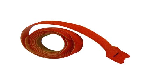 "1 Roll of 10x 18"" x 0.75"" Red Cable Velcro Ties with 50 lbs of Tensile Strength"