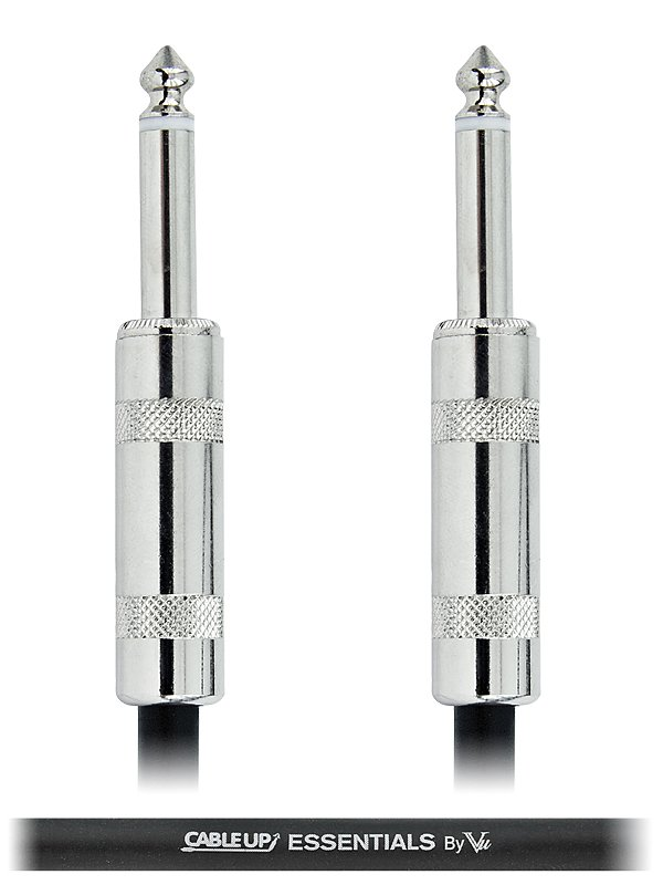 """Cable Up by Vu PM2-PM2-ES-20 20 ft 1/4"""" TS Male to 1/4"""" TS Male Unbalanced Cable with Silver Contacts PM2-PM2-ES-20"""