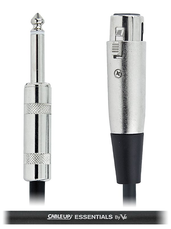 """5 ft XLR Female to 1/4"""" TS Male Unbalanced Cable with Silver Contacts"""