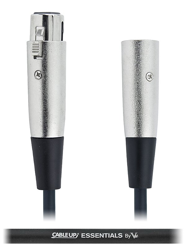 Cable Up by Vu XF3-XM3-ES-25 25 ft XLR Male to XLR Female Balanced Microphone Cable XF3-XM3-ES-25