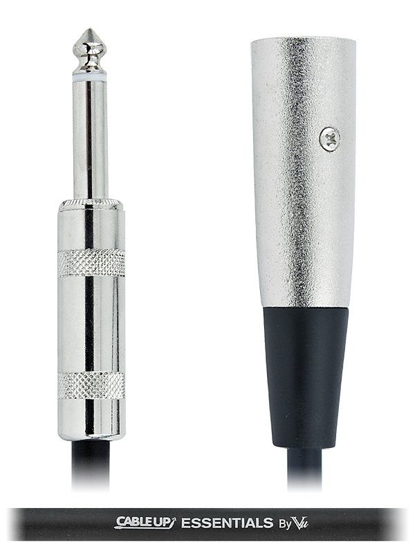 """2 ft XLR Male to 1/4"""" TS Male Unbalanced Cable with Silver Contacts"""