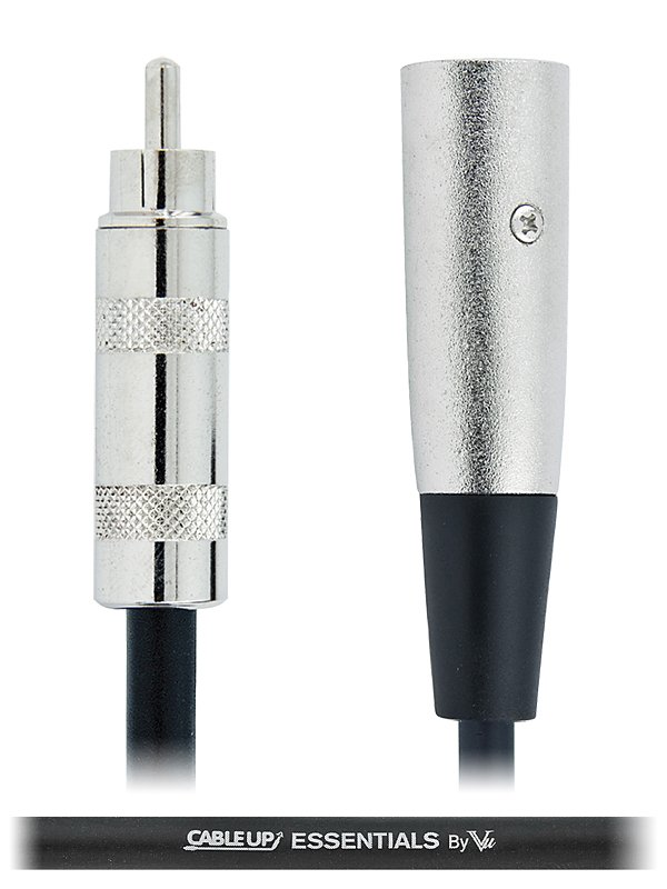 10 ft XLR Male to RCA Male Unbalanced Cable with Silver Contacts