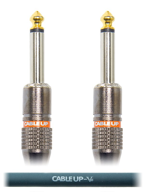 "6"" 1/4"" TS Male to Male Unbalanced Cable"