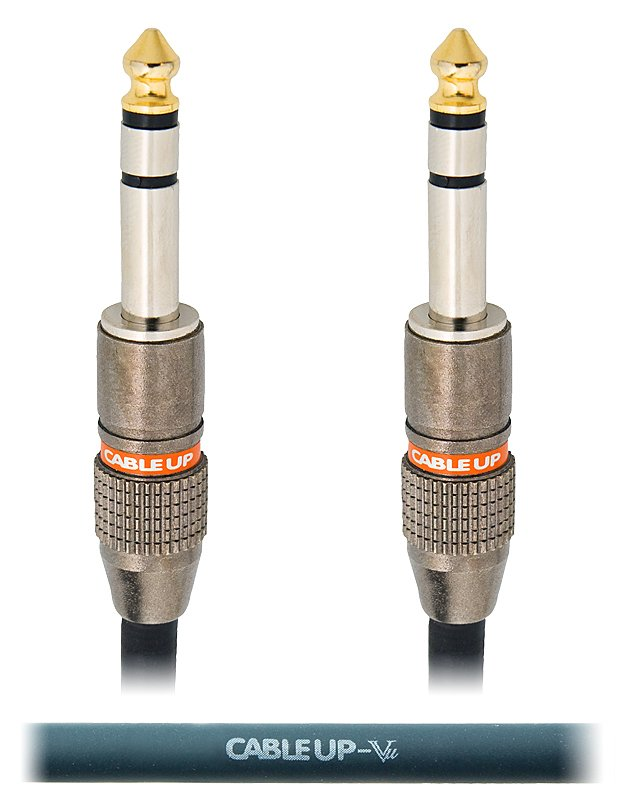"1 ft 1/4"" TRS Male to Male Balanced Cable"