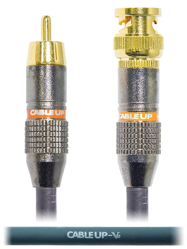20 ft 75 Ohm RCA Male to BNC Video Cable