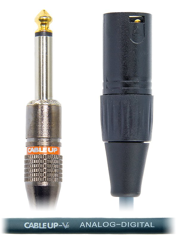 """25 ft XLR Male to 1/4"""" TS Male Unbalanced Cable"""