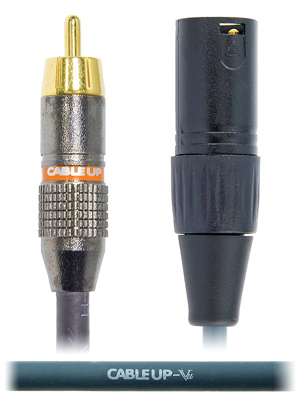 3 ft XLR Male to RCA Male Unbalanced Cable