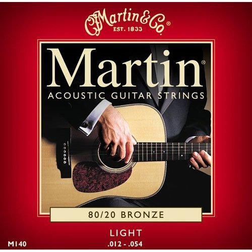 Martin Strings M140 Light 80/20 Bronze Acoustic Guitar Strings M140