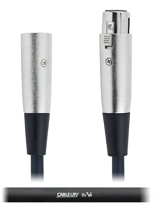 6-inch 5-Pin DMX Male to 5-Pin DMX Female Cable