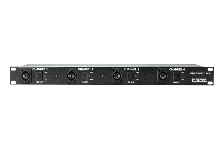 Mic Splitter, 4-channel 1 x 2