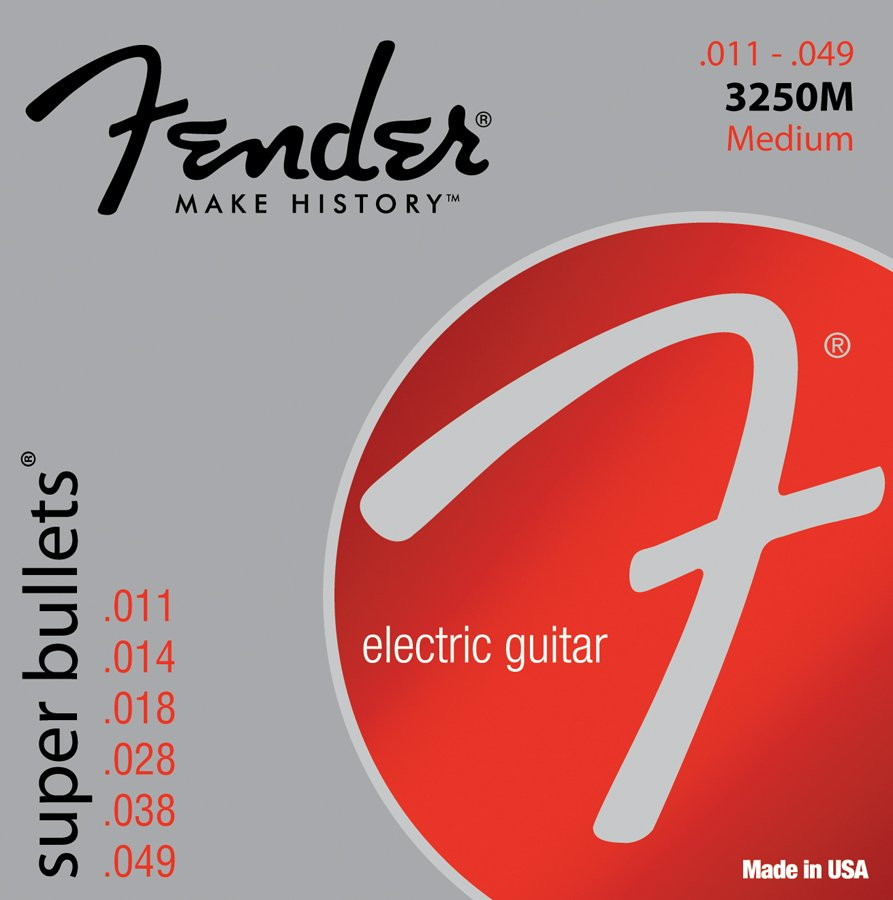 Fender 3250M Medium Super Bullets Electric Guitar Strings 3250M