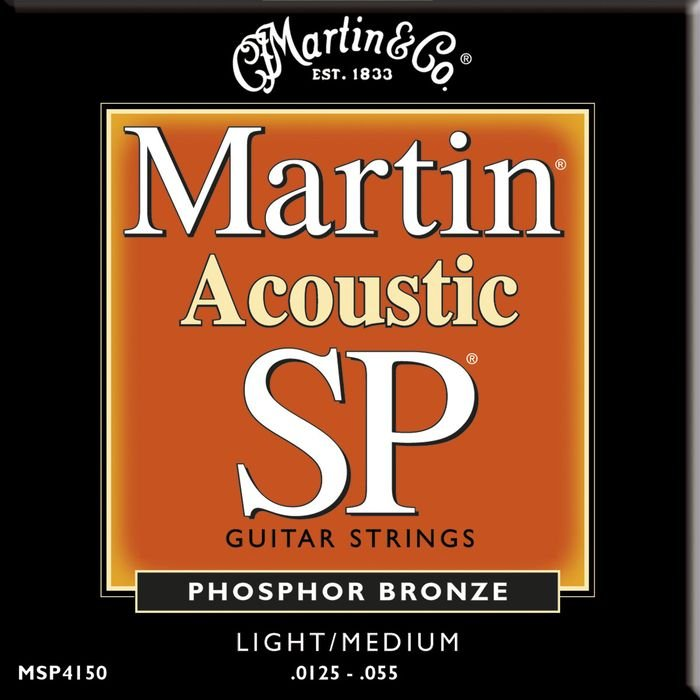 Martin Strings MSP4150 Light/Medium SP Phosphor Bronze Acoustic Guitar Strings MSP4150