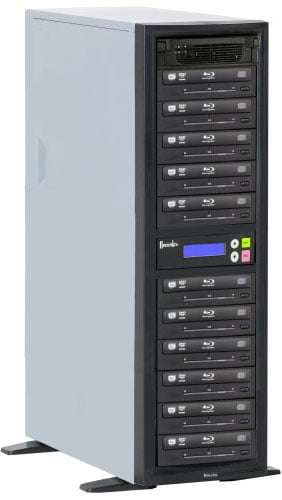 BD/CD/DVD Writer, 500 GB HD, 11 Target Drives