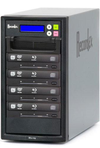 Recordex USA Inc. BD400 BD/CD/DVD Writer, 500 GB HD, 4 Target Drives BD400