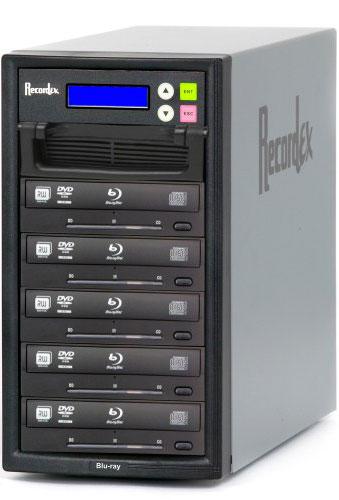 BD/CD/DVD Writer, 500 GB HD, 5 Target Drives