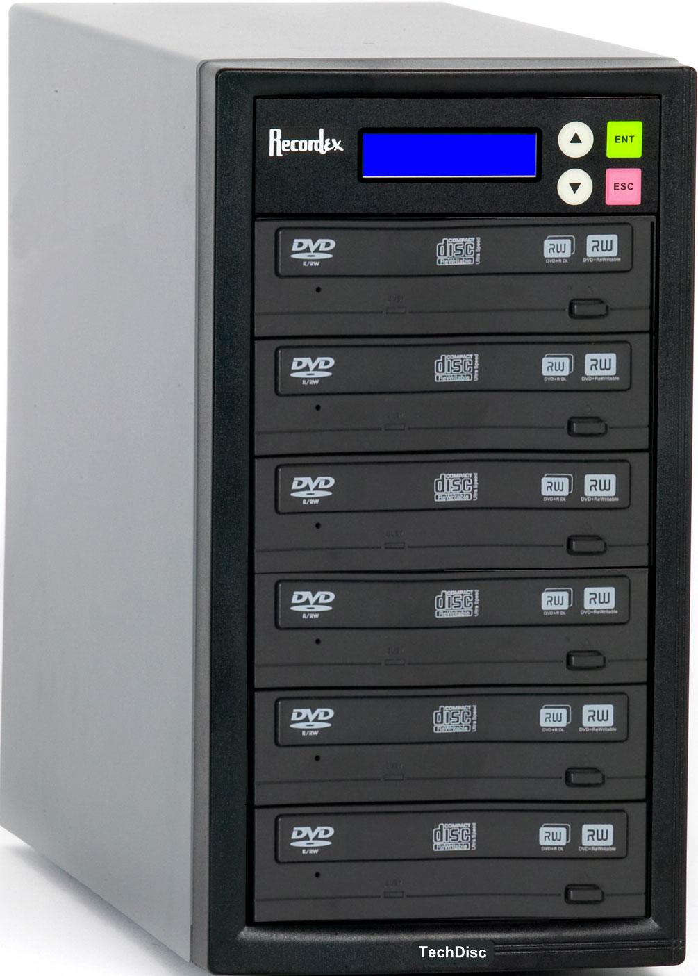 CD/DVD Duplicator with 5 Target Drives